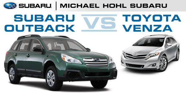 Michael Hohl Subaru >> Subaru Outback & Toyota Venza Performance Comparison ...