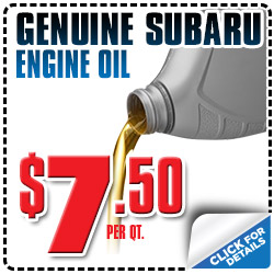 Genuine Subaru Oil Special Reno, NV
