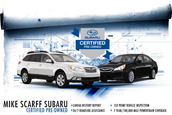 Certified Pre-Owned Subaru Vehicles at Mike Scarff Subaru in Auburn, WA
