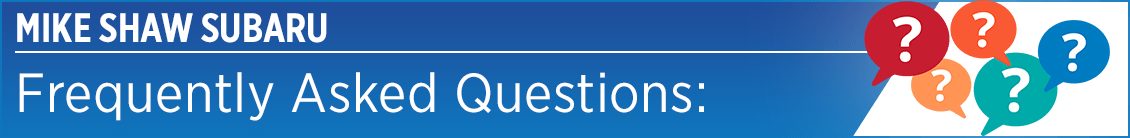 Subaru Frequently Asked Questions Serving Denver, CO