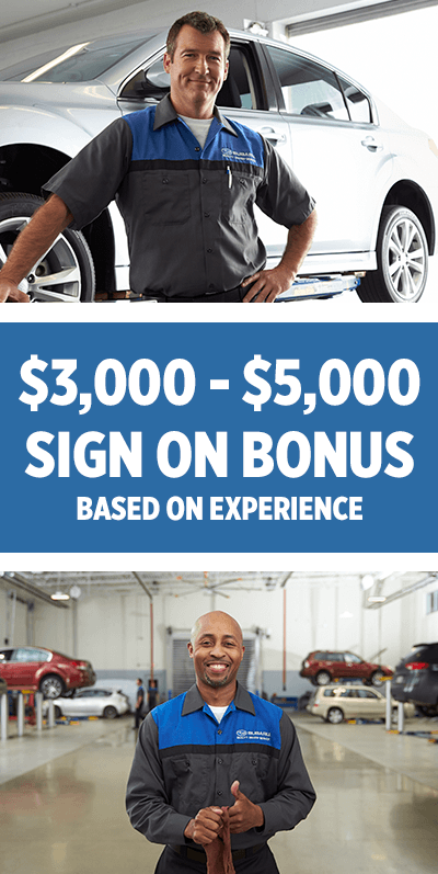 $3,000 - $5,000 Sign on Bonus Based on Experience at Mike Shaw Subaru in Thornton, CO