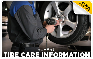 Click to view our Subaru Tire Care Service FAQ serving Denver, CO