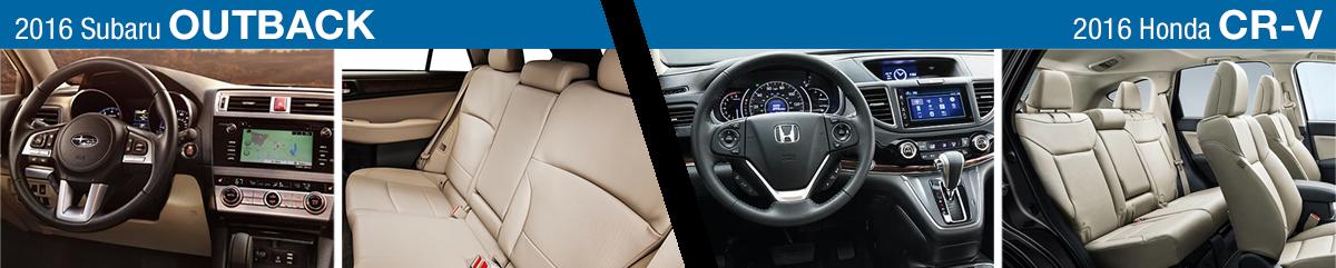 Outback Vs Crv >> 2016 Subaru Outback Vs 2016 Honda Cr V Model Feature