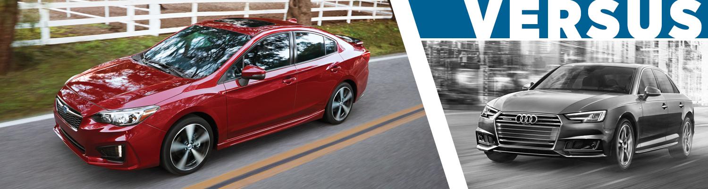 Compare Subaru Impreza VS Audi A Model Comparison Research - Audi a4 comparable cars