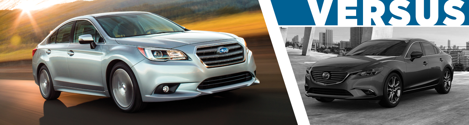 2017 Subaru Legacy VS 2017 Mazda6 Comparison  VS Competition