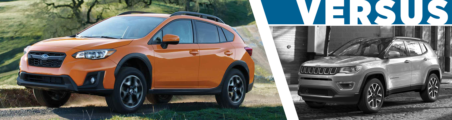 2018 subaru crosstrek vs jeep compass features details. Black Bedroom Furniture Sets. Home Design Ideas