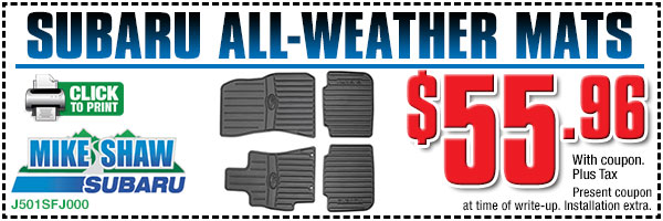Subaru All-Weather Floor Mats for sale in Denver Colorado