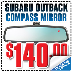 Genuine Subaru Auto Dimming Mirror with Compass Parts Special serving Denver, Colorado, Thornton, Boulder, Fort Collins