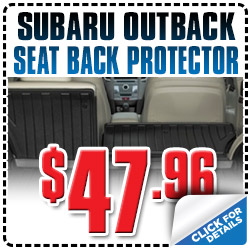 Genuine Subaru Outback Seat Back Protector Discount Special serving Denver, Colorado, Thornton, Boulder, Fort Collins