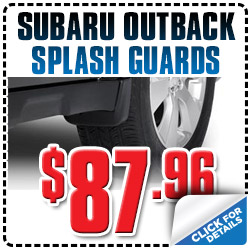 Genuine Subaru Outback Splash Guards Special Discount Coupon serving Denver, Colorado, Thornton, Boulder, Fort Collins