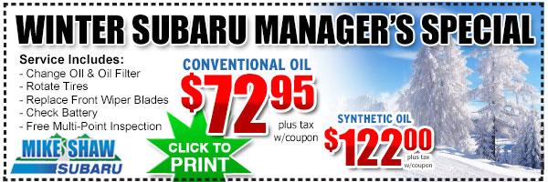 Subaru service discount coupons