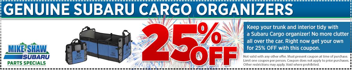 Genuine Subaru Cargo Organizers Parts Special | Denver
