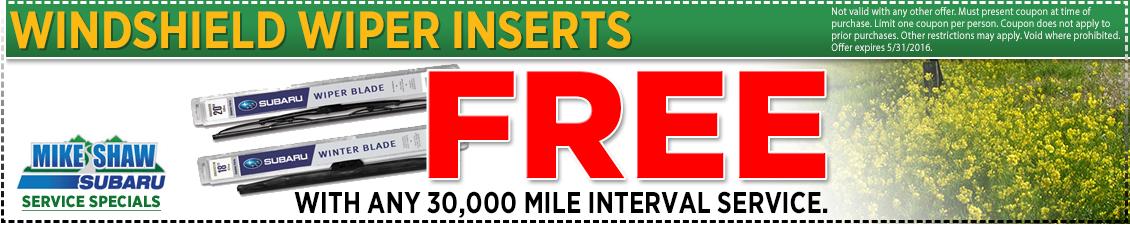 Save on Subaru 30,000 mile interval service at Mike Shaw Subaru serving Denver, CO