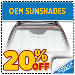 Click to save with our Subaru sunshade parts special serving Denver, CO