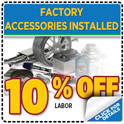 Click to view our Subaru factory accessories installed service special serving Denver, CO