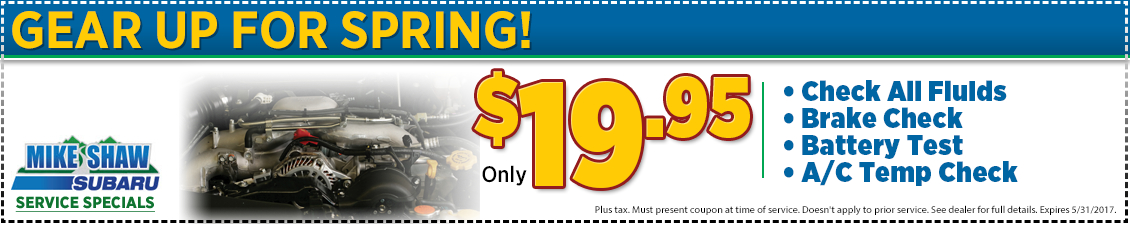 Click to Print This Subaru Gear Up for Spring Service Special in Thornton, CO