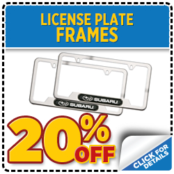 Click to view our Subaru License Plate Frame parts special serving Denver, CO