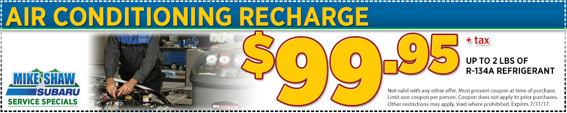 Click to Print This Subaru Air Conditioning Service Special in Thornton, CO