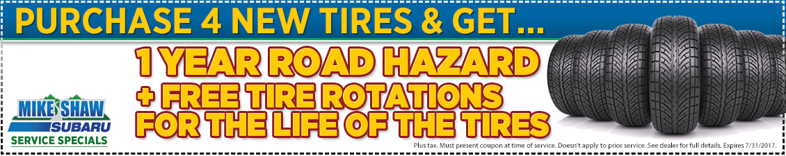 Click to Print This Subaru Tire Purchase Service Special in Thornton, CO
