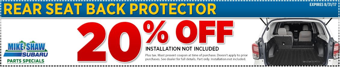 Subaru Rear Seatback Protector Parts Special serving Denver, CO