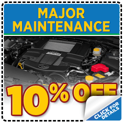 Click to view our Subaru Major Scheduled service special serving Denver, CO