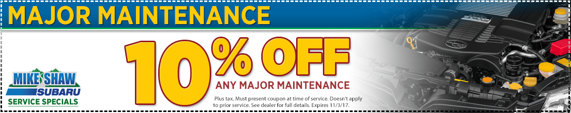 Click to Print This Subaru Major Scheduled Service Service Special in Thornton, CO