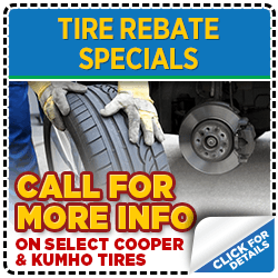 Click for Rebate Tire Service Special at Mike Shaw Subaru serving Denver, CO