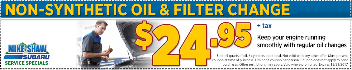 Click to Print This Conventional Oil & Filter Change Service Special in Thornton, CO