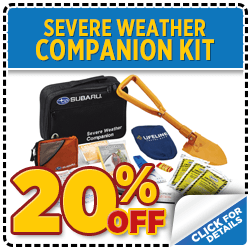 Click to be ready for our Colorado winter with a genuine Subaru Severe Weather Companion kit when you present coupon at Mike Shaw Subaru in Thornton serving Denver, CO