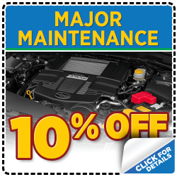 Click for service savings on major maintenance intervals at Mike Shaw Subaru serving Denver, CO