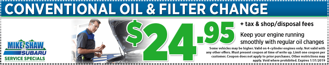 Click to Print This Month's Conventional Oil Change service special serving Denver, CO