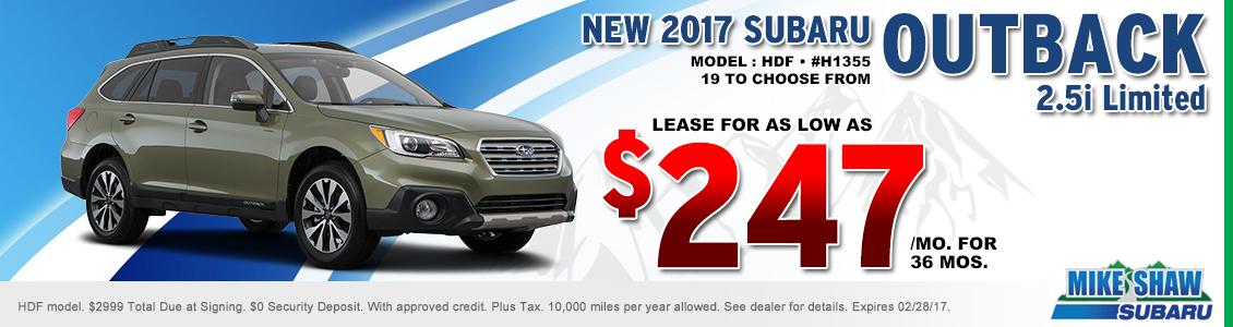 New Subaru Outback Special Lease Offers Denver Area Car