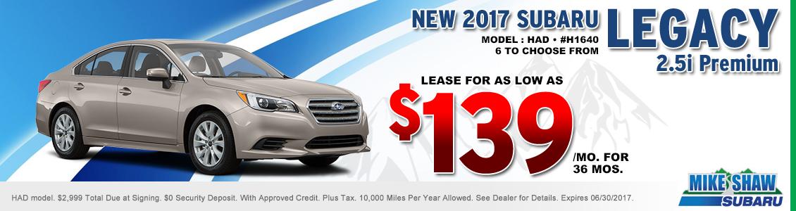 2017 Subaru Legacy 2.5i Premium Lease Special serving Denver, CO