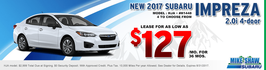 2017 Subaru Impreza 2.0i Sedan Lease Special serving Denver, CO