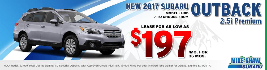 2017 Subaru Outback 2.5i Premium Lease Special serving Denver, CO