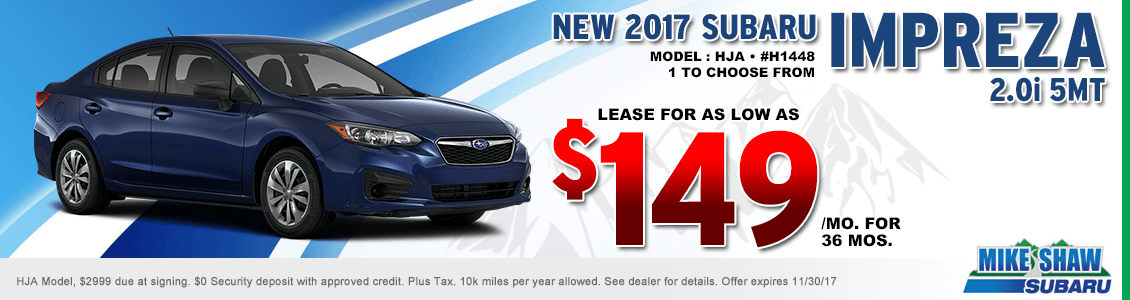 2017 Subaru Impreza 2.0i 5MT Lease Special serving Denver, CO