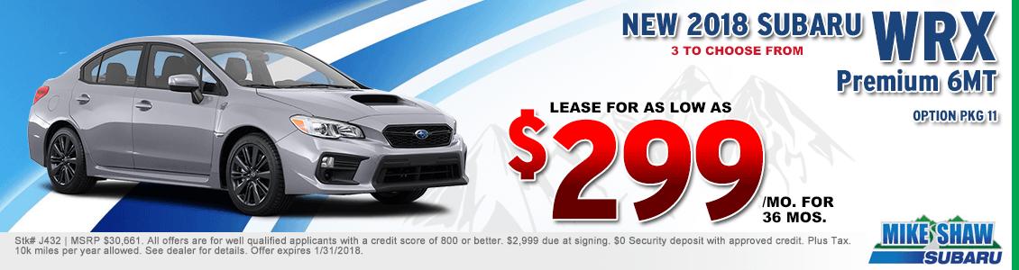 Subaru Wrx Lease >> Get An Outstanding Deal On A New Subaru Wrx In Thornton Co