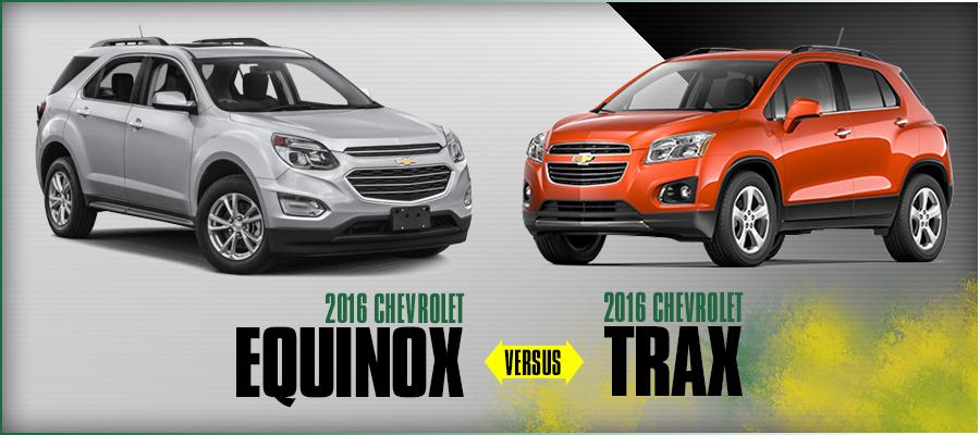 Chevrolet Parts El Paso U003eu003e 2016 Chevrolet Trax VS Chevrolet Equinox Model  Comparison | El