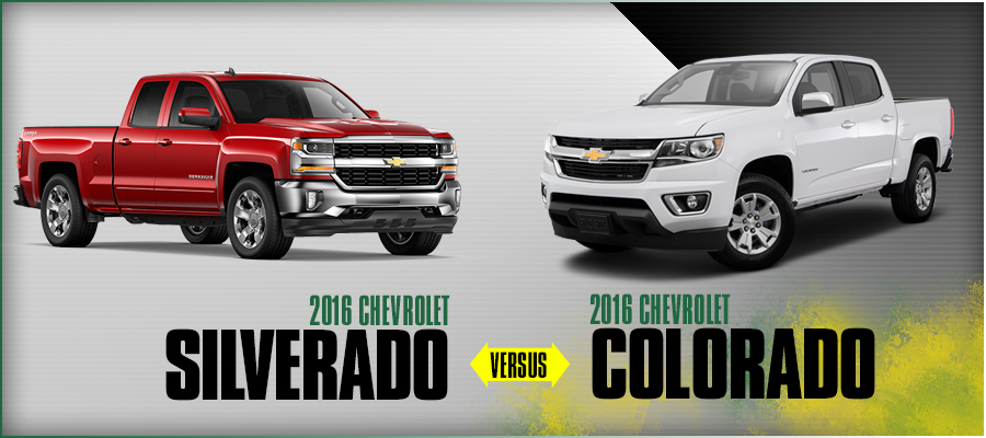 2016 Chevrolet Silverado Vs Chevrolet Colorado Model Comparison El