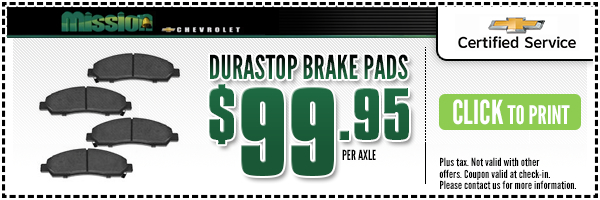 Brake Pad Replacement Special Discount Offer At Mission Chevrolet In El Paso TX