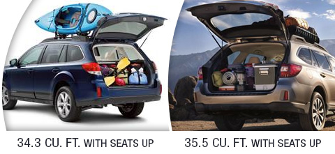 2014 and 2015 Outback Cargo Seats Up