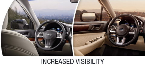 2014 and 2015 Outback Visibility Features