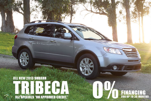 New 2013 Subaru Tribecas 0% Financing for 36 months in Salt Lake City, Utah