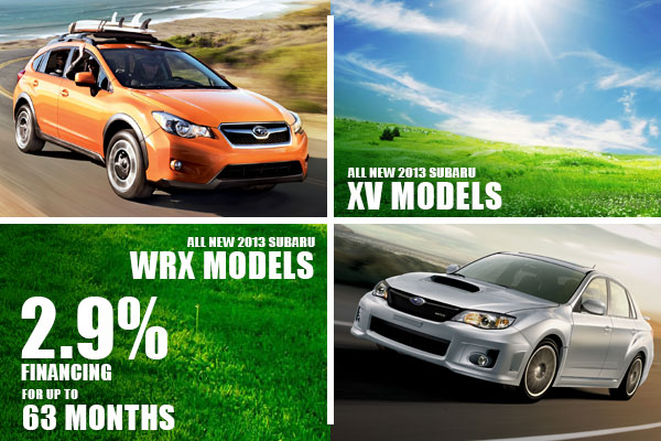 2.9% Financing on New 2013 Subaru XV & WRX Models in Salt Lake City Utah