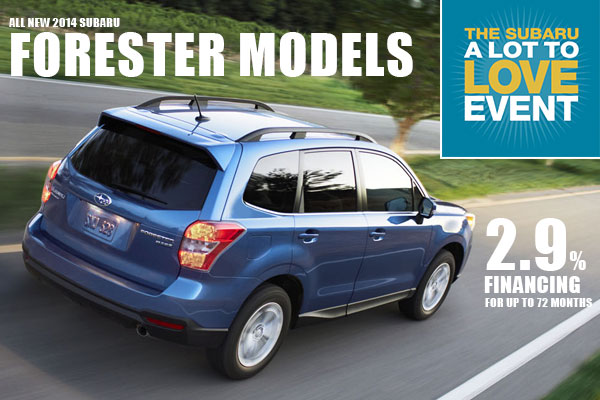 New 2014 Subaru Forester Finance Special Offer in Salt Lake City, Utah