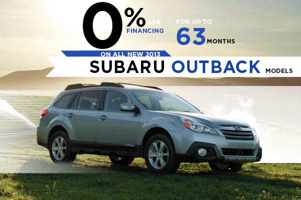 New 2013 Subaru Outback Finance Special Offer serving Salt Lake City, Utah