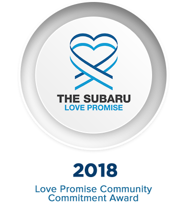 Subaru Love Promise Community Commitment Award Winner