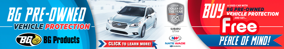 Click here to learn more about BG pre-owned vehicle protection from Nate Wade Subaru in Salt Lake City, UT