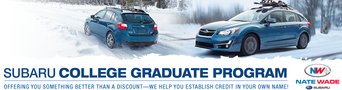 College graduates can establish credit and drive home in a new Subaru with this Salt Lake City, UT program
