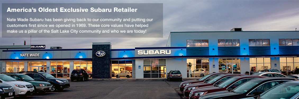 Visit Nate Wade Subaru, America's oldest exclusive Subaru retailer, for your best deal in Salt Lake City, UT